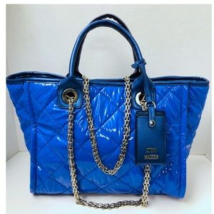 Steve Madden Storm Quilted Blue Tote Bag